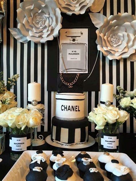 chanel birthday party ideas  pinterest chanel