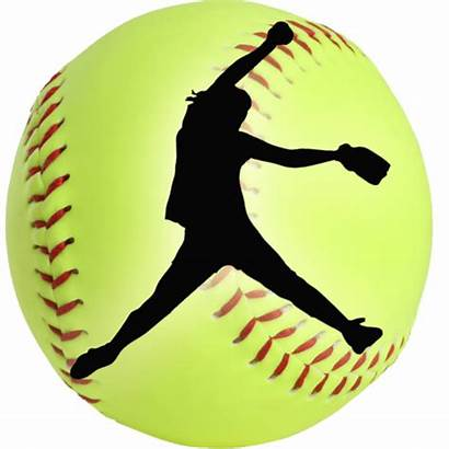 Softball Fastpitch Equipment Silhouette Pitcher Clipart Sayings