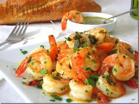 cuisiner les crevettes crevettes sautées ail et persil le cuisine de samar