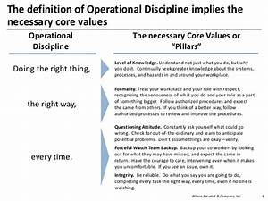 Operational Discipline - Deepwater Horizon Case Study
