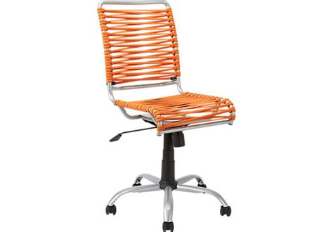 bungee twist orange desk chair microfiber