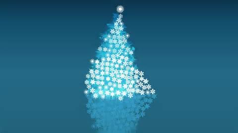 snowflake christmas tree wallpaper 2354