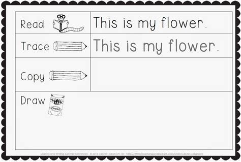 writing simple sentences worksheets kindergarten