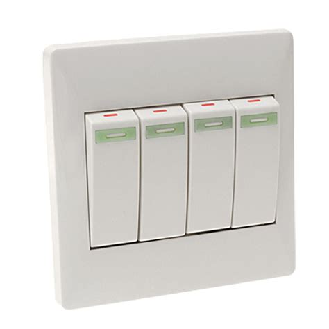 4 button wall mount light l switch plate cover ebay