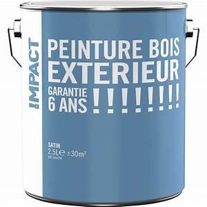 Peinture Argentée Pour Bois : peinture bois ext rieur impact blanc 2 5 l leroy merlin ~ Melissatoandfro.com Idées de Décoration