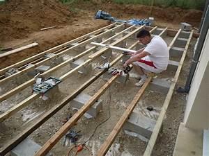 la terrasse suite le blog de notre construction avec With pose de lambourde pour terrasse