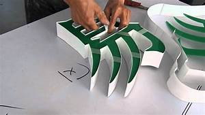 aluminum profile channel letters making youtube With how to build channel letters
