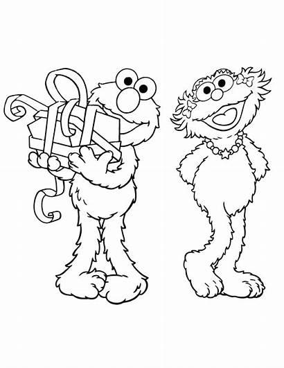 Coloring Pages Friends Friendship Elmo Sesame Printable