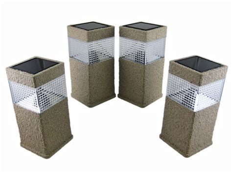 4 x finish solar fence post cap lights deck pl216 ebay