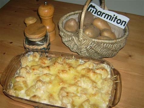 recette cuisine gratin de chou fleur et pommes de terre recette de