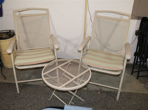 metal patio chairs with cushions
