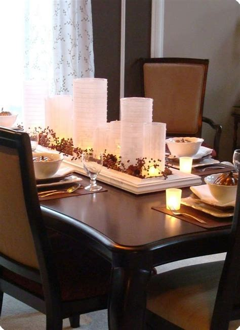 fall formal dining table centerpiece home decor pinterest love this for a table centerpiece with fall leaves maybe