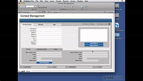 filemaker templates filemaker pro creating databases from templates lynda