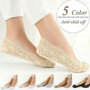 lace low socks fashion womens cotton blend lace antiskid invisible low
