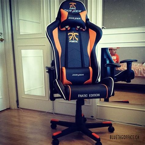 new chair fnatic dxracer gaming esport orange