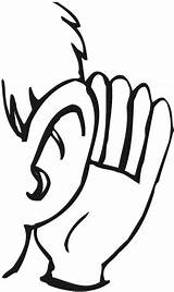 Clipart Listening Ears Listen Cliparts Library sketch template