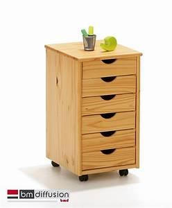 Caisson De Rangement : nils caisson de rangement pour bureau sur roulettes 6 tiroirs meubles bureau caisson de bureau ~ Teatrodelosmanantiales.com Idées de Décoration