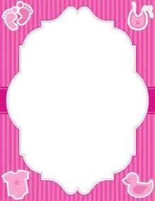 Baby Girl Page Border Clip Art