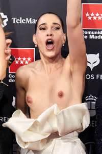 Celia Freijeiro Goes Nude On The Red Carpet 3 Photos