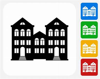 Graphic Icon Housing Multifamily Flat Clip Illustrations