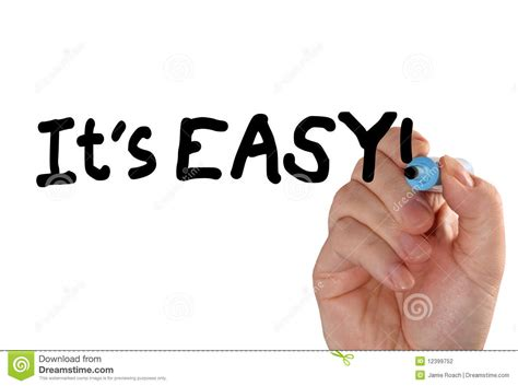easy and it s easy hand marker stock photo image of isolated 12399752