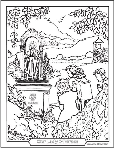 catholic coloring pages sacraments rosary saints