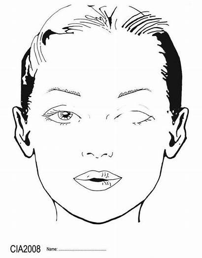 Face Chart Makeup Blank Template Eyes Eye
