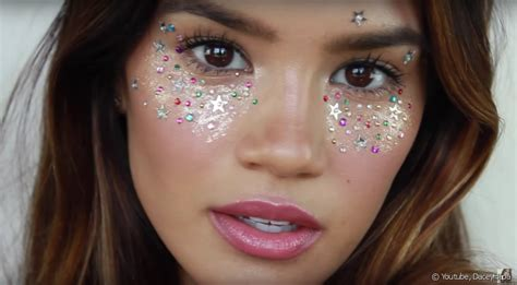 and easy hair colors festival makeup inspiration cosmic glitter