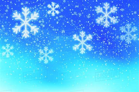 Blue Snowflake Background Images by Snowflakes On Blue Background Studio Stock Photo
