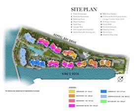 1 bedroom floor plan site plan corals at keppel bay