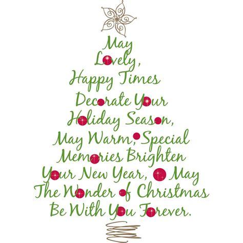 room mates seasonal christmas tree quote peel and stick