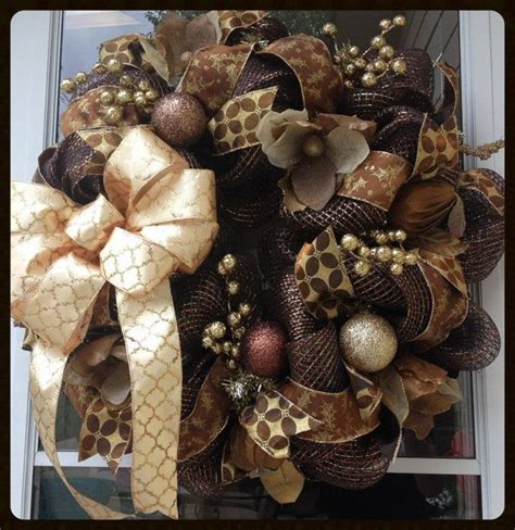 ideas  brown christmas decorations  pinterest