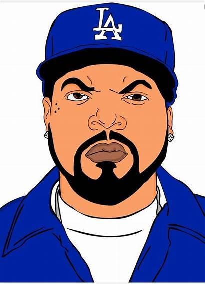 Ice Cube Drawings Drawing Cubes Rapper Cartoon