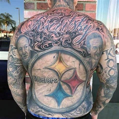 pittsburgh steelers tattoo designs  men nfl ink ideas