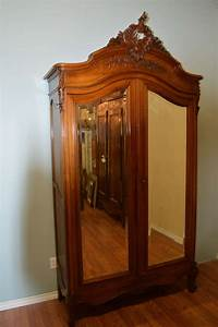 Louis XV Style Two Door Walnut Armoire At 1stdibs