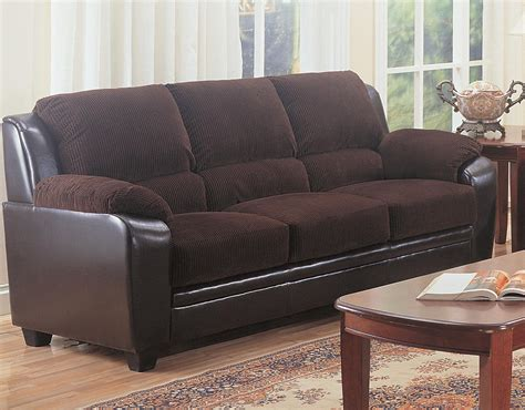 Livingroom Chocolate Brown Sofa Slipcover Couch Set