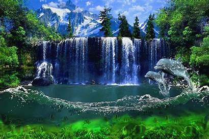 Waterfall Animated Waterfalls Gifs Decent Scraps Water