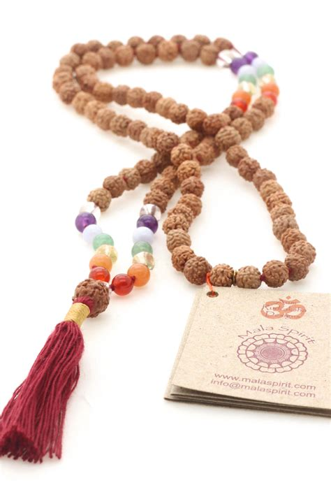 Chakra Balance mala necklace from mala beads to connect ...