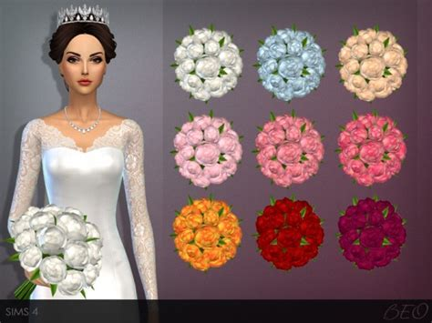 BEO Creations: WEDDING BOUQUET ? Sims 4 Downloads