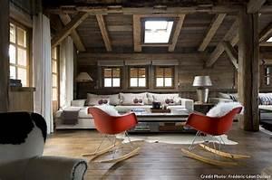 le design reinvente le chalet de montagne maison creative With tapis design avec canapé charles eames
