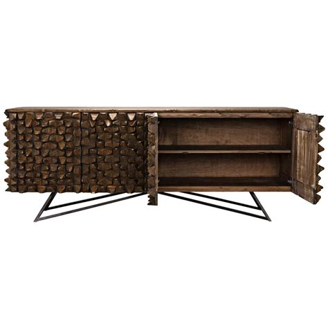 Metal Sideboard Buffet by Mersin Modern Rustic Reclaimed Chunky Wood Metal Sideboard