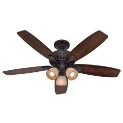 hunter 52 in new bronze ceiling fan with light remote