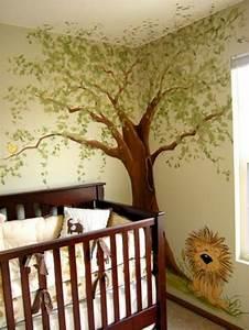 Baum An Wand Malen : 28 coole fotos vom dschungel kinderzimmer ~ Frokenaadalensverden.com Haus und Dekorationen