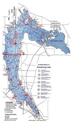 Pymatuning Lake Fishing Map