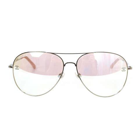 light pink sunglasses chanel light pink mirrored avaitor sunglasses at 1stdibs