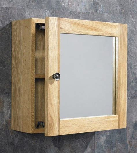 solid oak wall mounted corner  square bathroom storage