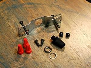 Hardware mount kit for ceiling canopy install pieces top