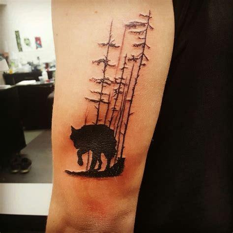 powerful wolf tattoo designs tribal traditional