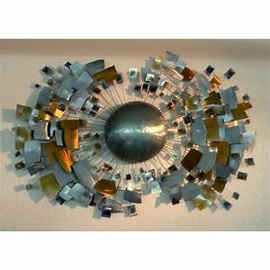 Decoration Murale Acier : arqitecture feu m tal soleil tableau sculpture ~ Teatrodelosmanantiales.com Idées de Décoration
