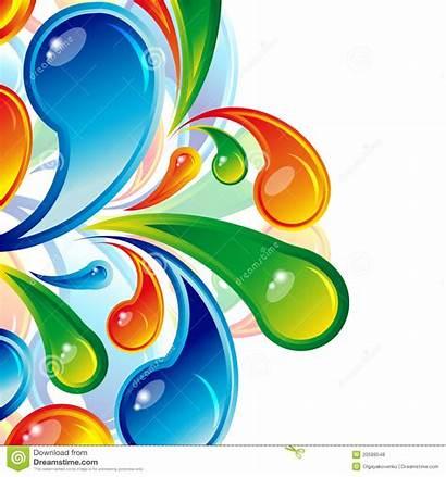 Multicolor Drops Bakgrund Tappar